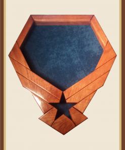 Cherry Air Force Emblem ShadowBox-Blue Background
